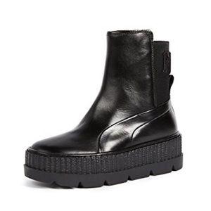 NIB Fenty by Rihanna Chelsea Sneaker Boot in Black